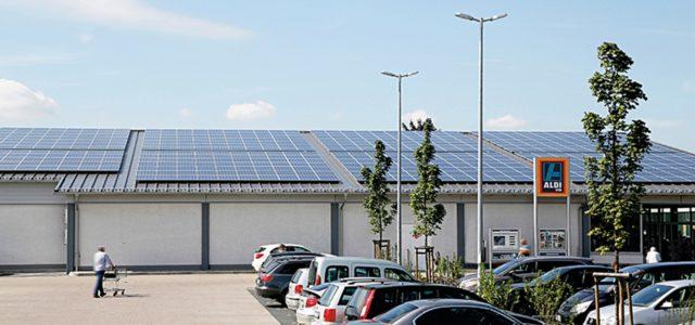 Aldi Süd mit Photovoltaik-Anlage