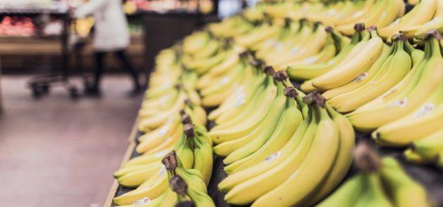 Bananen im Supermarkt, Alltag Umwelt schützen