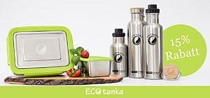 15% Rabatt auf nachhaltige Trinkflaschen & lunchBOXen von ECOtank