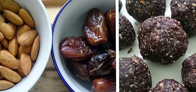 energy balls selber machen rezept mandeln datteln