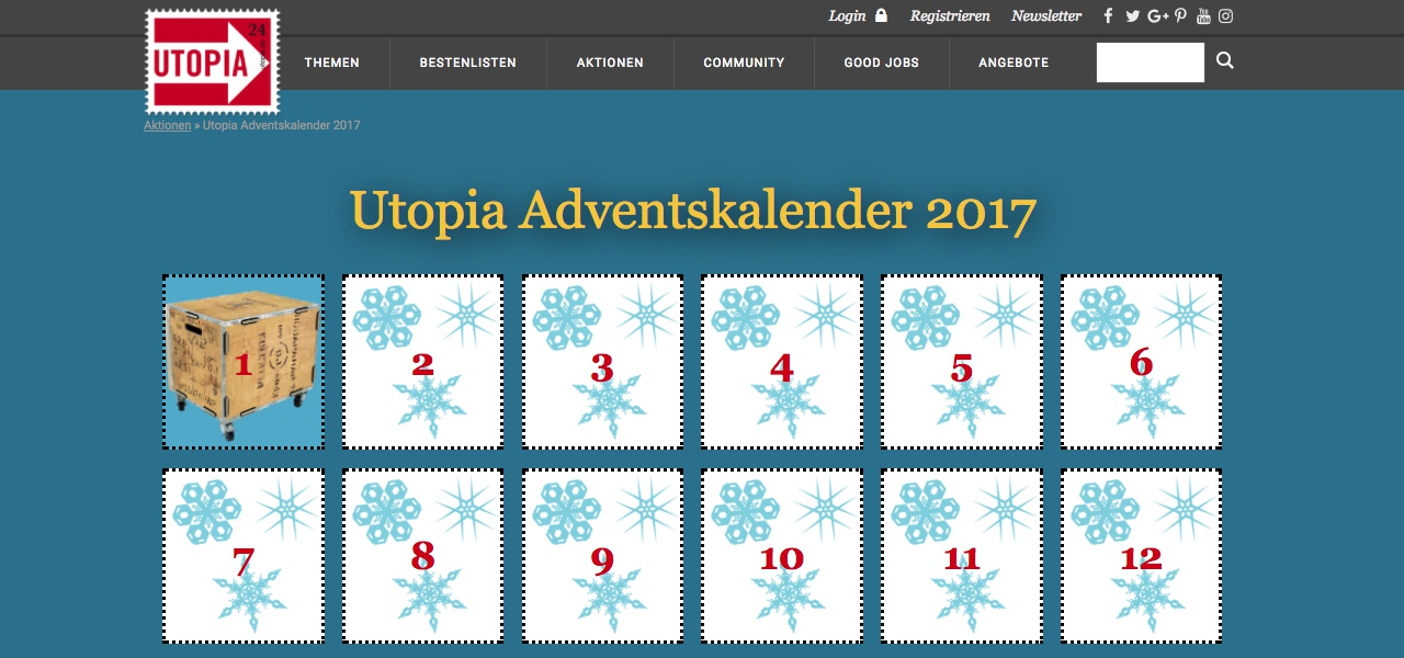 Utopia-Adventskalender 2017