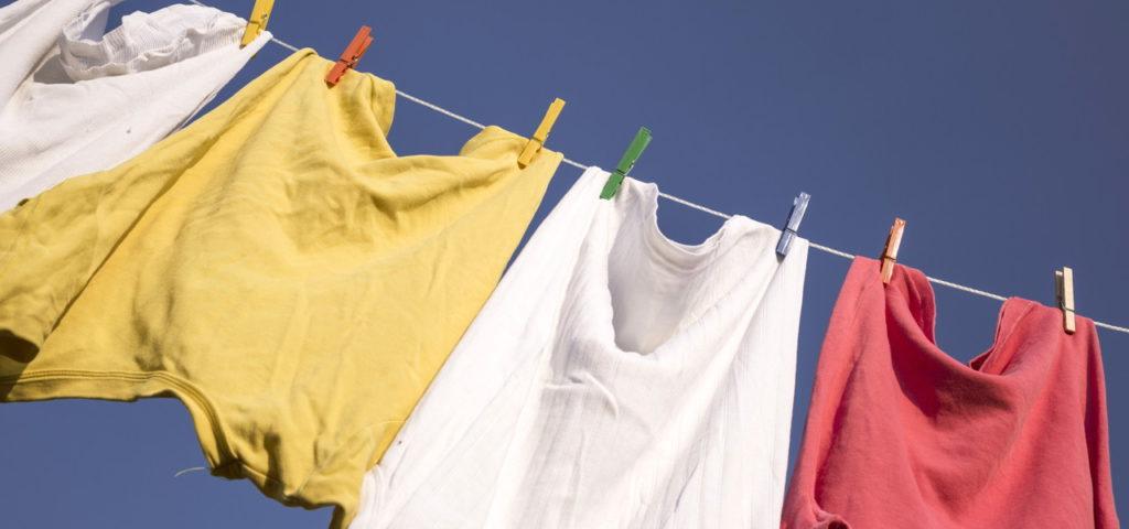 Im Freien trocknet Wäsche auch bei Kälte gut