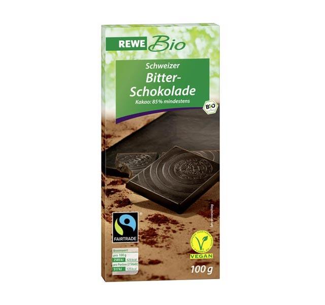 Bestenliste Fair Trade Schokoladen Rewe