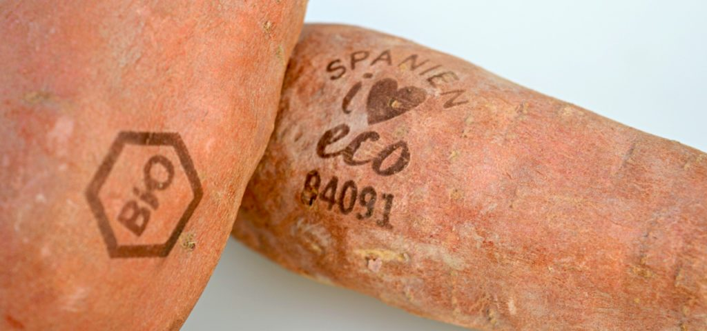 Süßkartoffeln mit Licht-Etiketten (Foto: Nature & More)