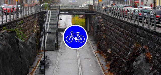 Norwegen Fahrrad Autobahn