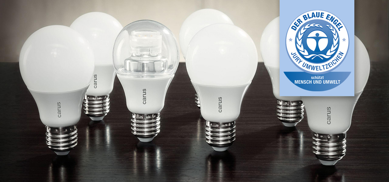 Carus: Erste LED-Lampe mit Blauem Engel ist \'Made in Germany\'