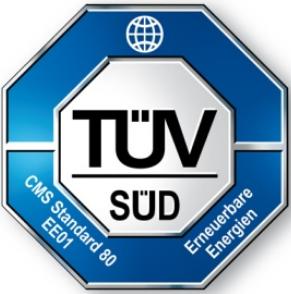 Ökostrom-Siegel TÜV Süd EE01