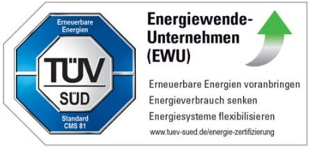 Ökostrom-Siegel TÜV Süd EWU