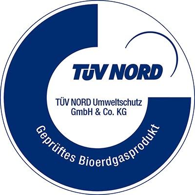Siegel TÜV Nord Bioerdgas