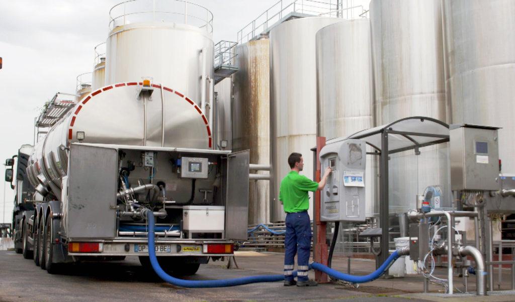 Milchproduktion Laiterie Saint-Père, Frankreich