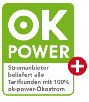 Ökostrom-Siegel ok power plus