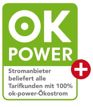 Ökostrom-Siegel ok power plus