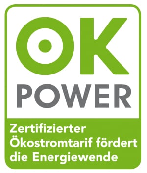 Ökostrom-Siegel ok power