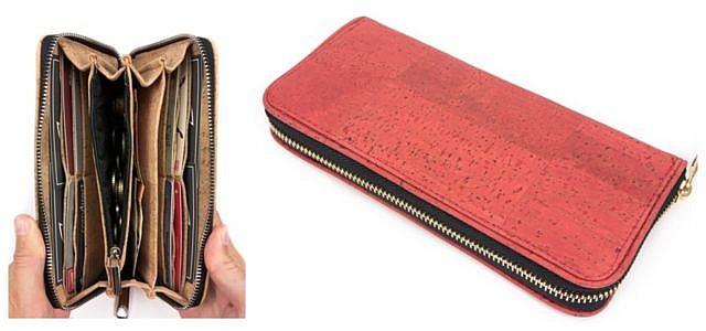 Faire Portemonnaies Geldbörsen rotes Modell von Simaru