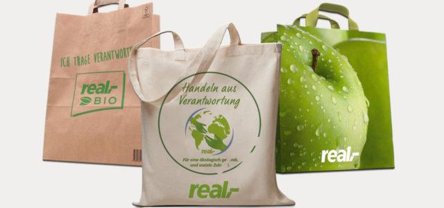 Real schafft die Plastiktüte ab