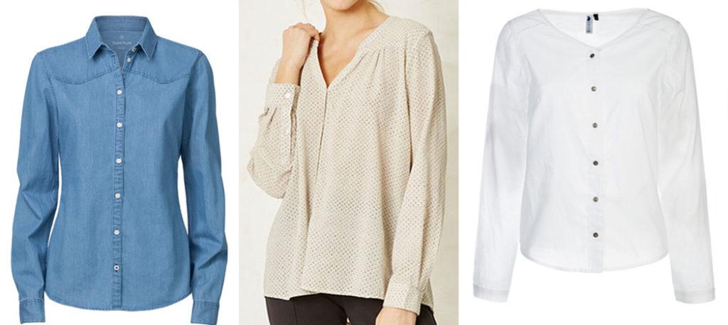 Minimalistischer Kleiderschrank: Blusen
