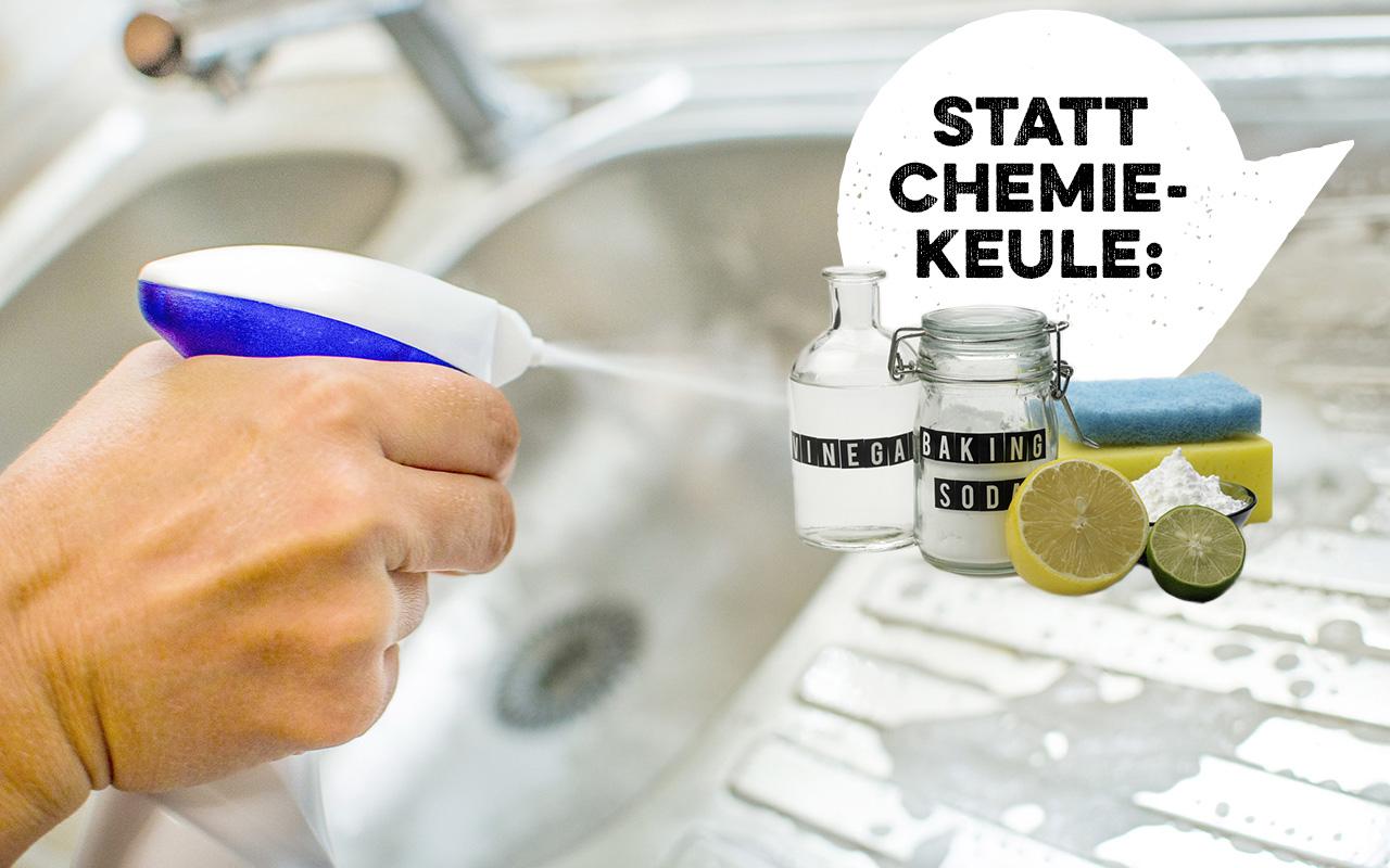 Aus deiner Küche verbannen: aggressive Reinigungsmittel