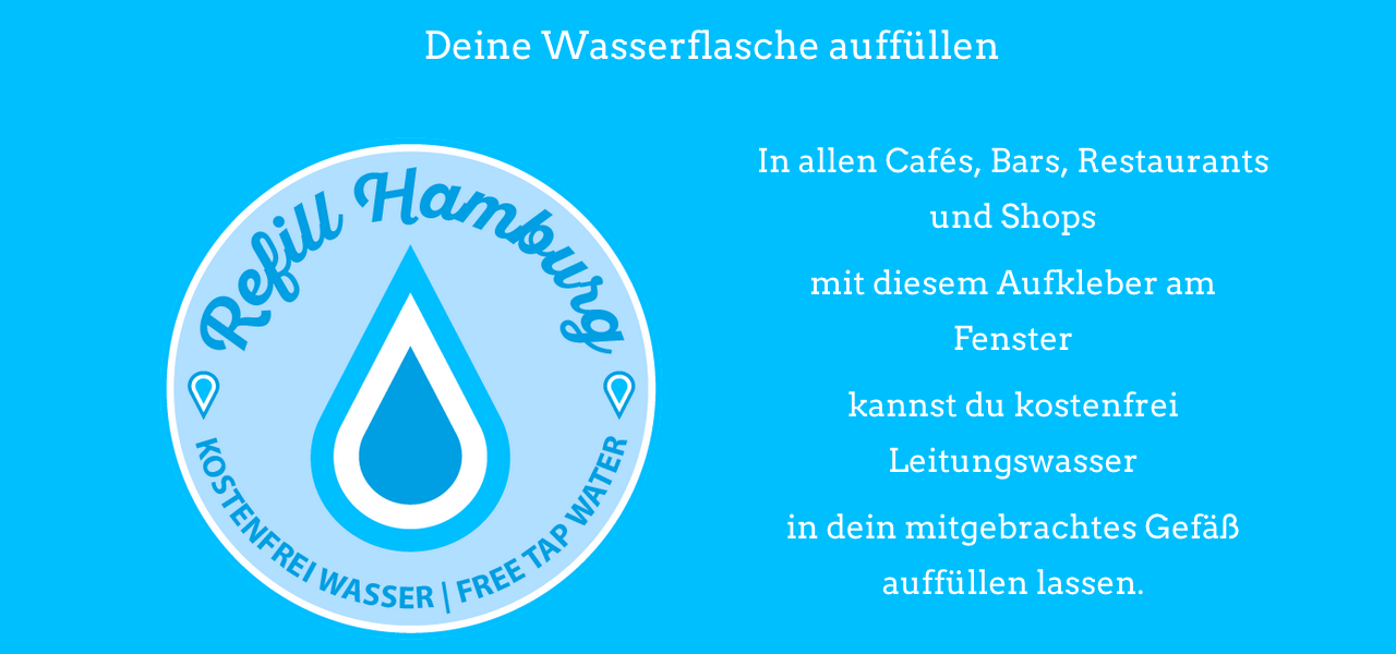 Refill Hamburg: Leitungswasser abfüllen