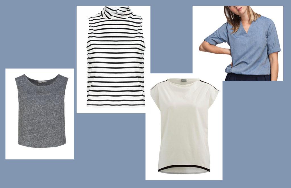 Minimalistischer Kleiderschrank: Shirts und Tops