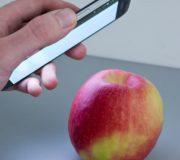 Hawkspex mobile App soll bald Pestizide erkennen können, Smartphone Apfel