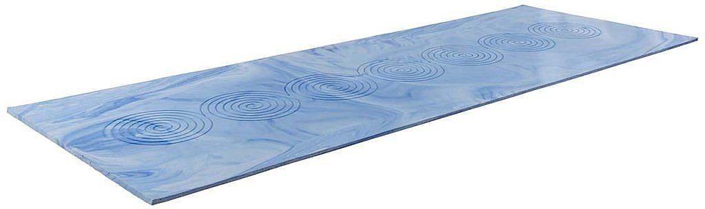 Blaue Yogamatte aus Naturlatex