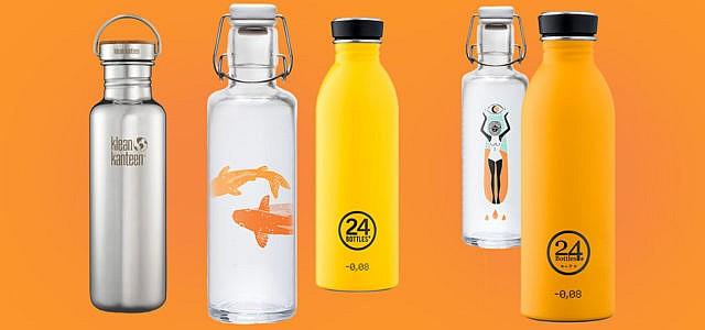 Trinkflaschen unterwegs