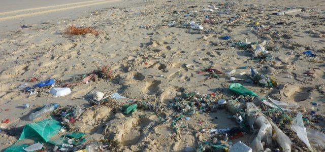 UN neue Kampagne gegen Meeresmüll, Plastikmüll am Strand