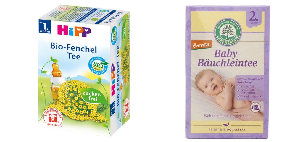 Zwei Bio-Babytees bekamen ein 'sehr gut'