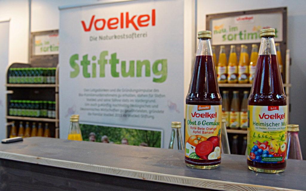 Biowest Messe Obst- und Gemüsesaft von Voelkel