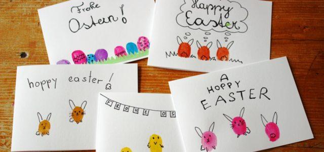 Osterkarten Basteln Ruckzuck Mit Der Fingerabdruck Anleitung Mit ღ
