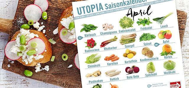 Saisonkalender: Das gibts im April