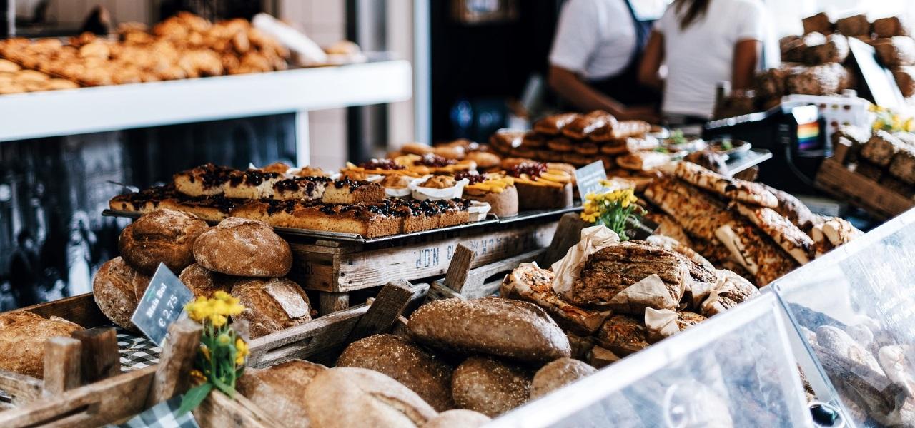 Brot retten, Bäckerei Auslage