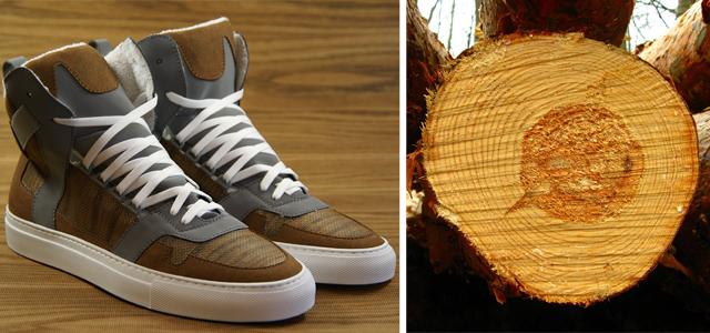 Die ersten Sneaker aus Holz