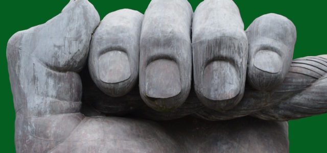 Brüchige Fingernägel Statue Faust