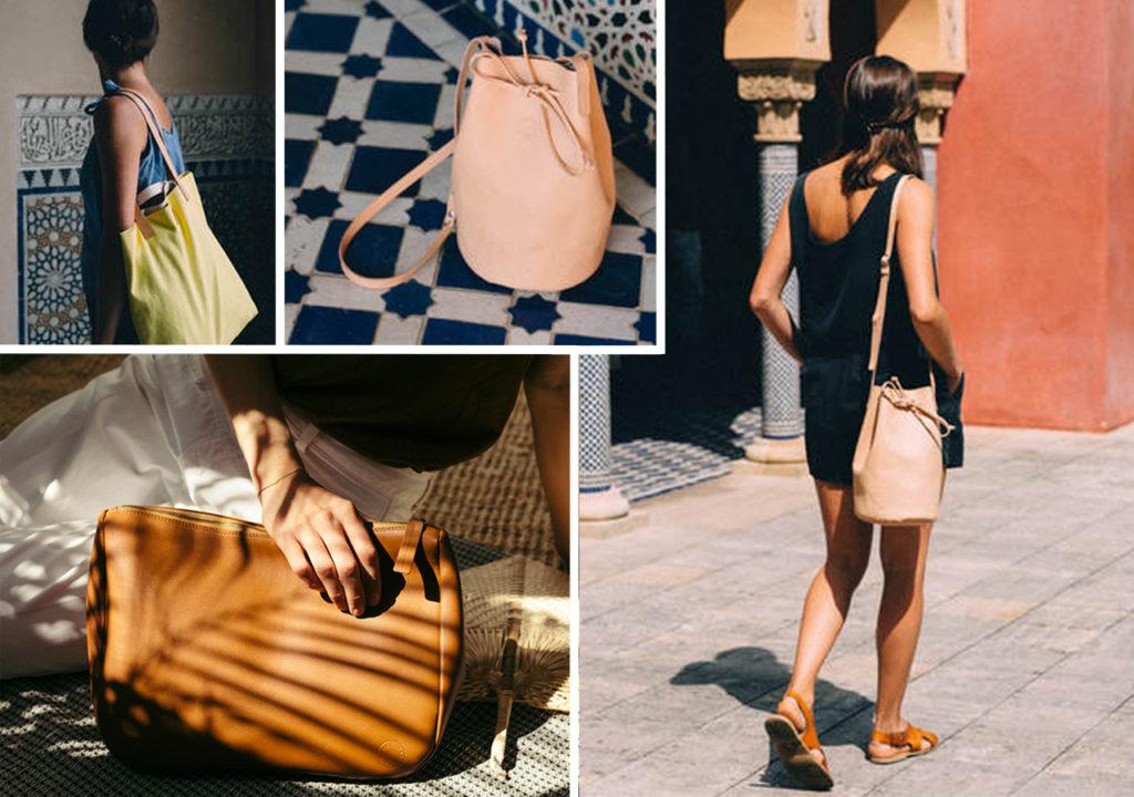 Faire Handtaschen aus Leder und Bio-Baumwolle von Marin et Marine