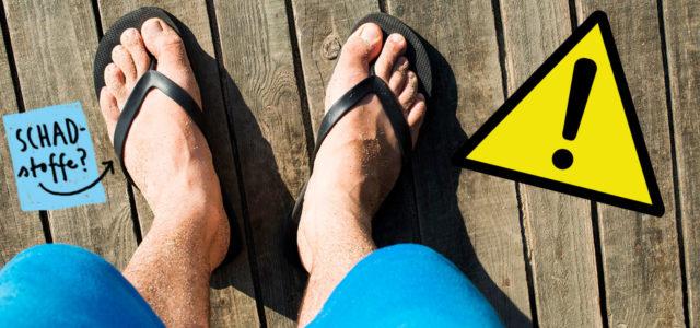 Öko-Test Flip-Flops: Jeder dritte mit Schadstoffen belastet