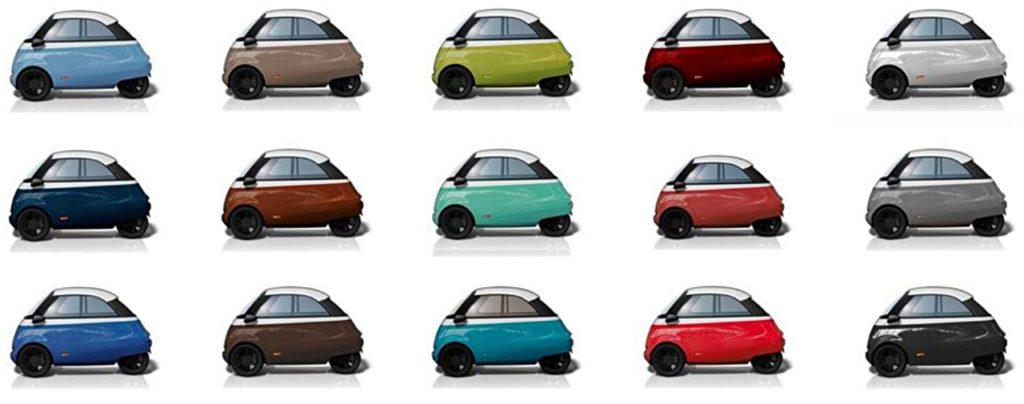 Der Microlino soll in fünf Farben kommen –welche das sind, können derzeit die potentiellen Kunden entscheiden