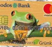Kreditkarte aus Bioplastik