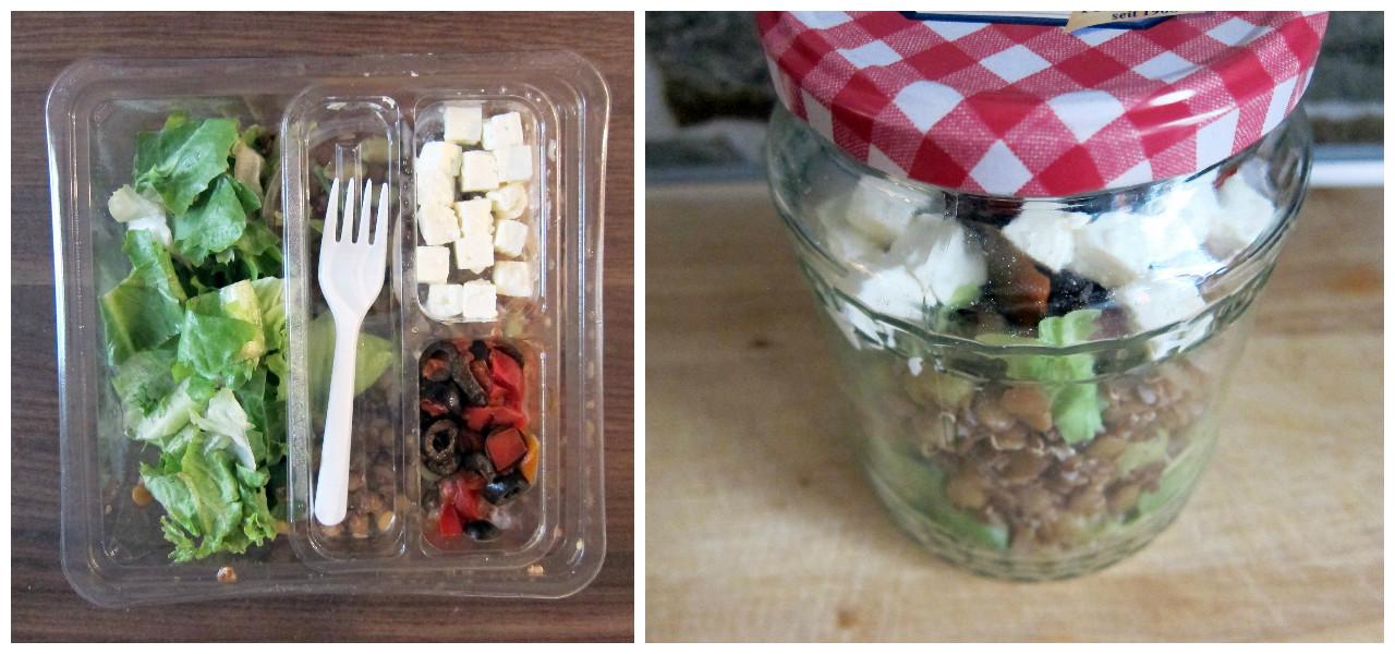 salat im glas plastikfreies mittagessen mit zwei tollen rezeptideen. Black Bedroom Furniture Sets. Home Design Ideas