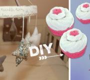 Cupcake aus Söckchen und Waschlappen Geschenk zur Geburt selbstgemacht