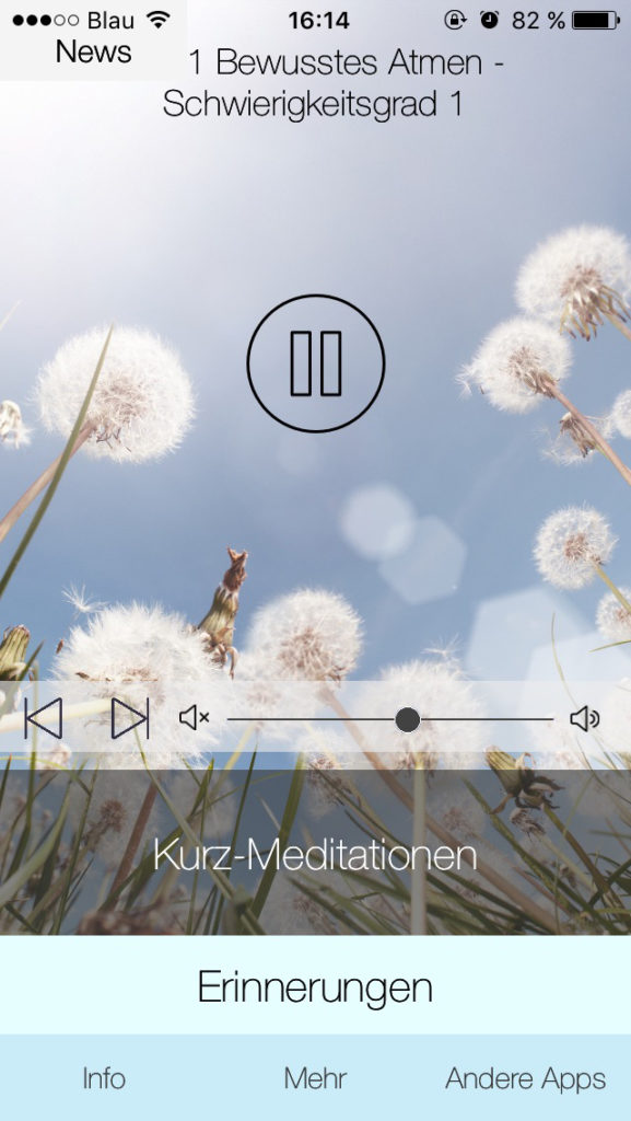 Meditations Apps: 5 Minuten Meditation
