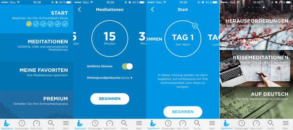 Meditations Apps: Achtsamkeits App