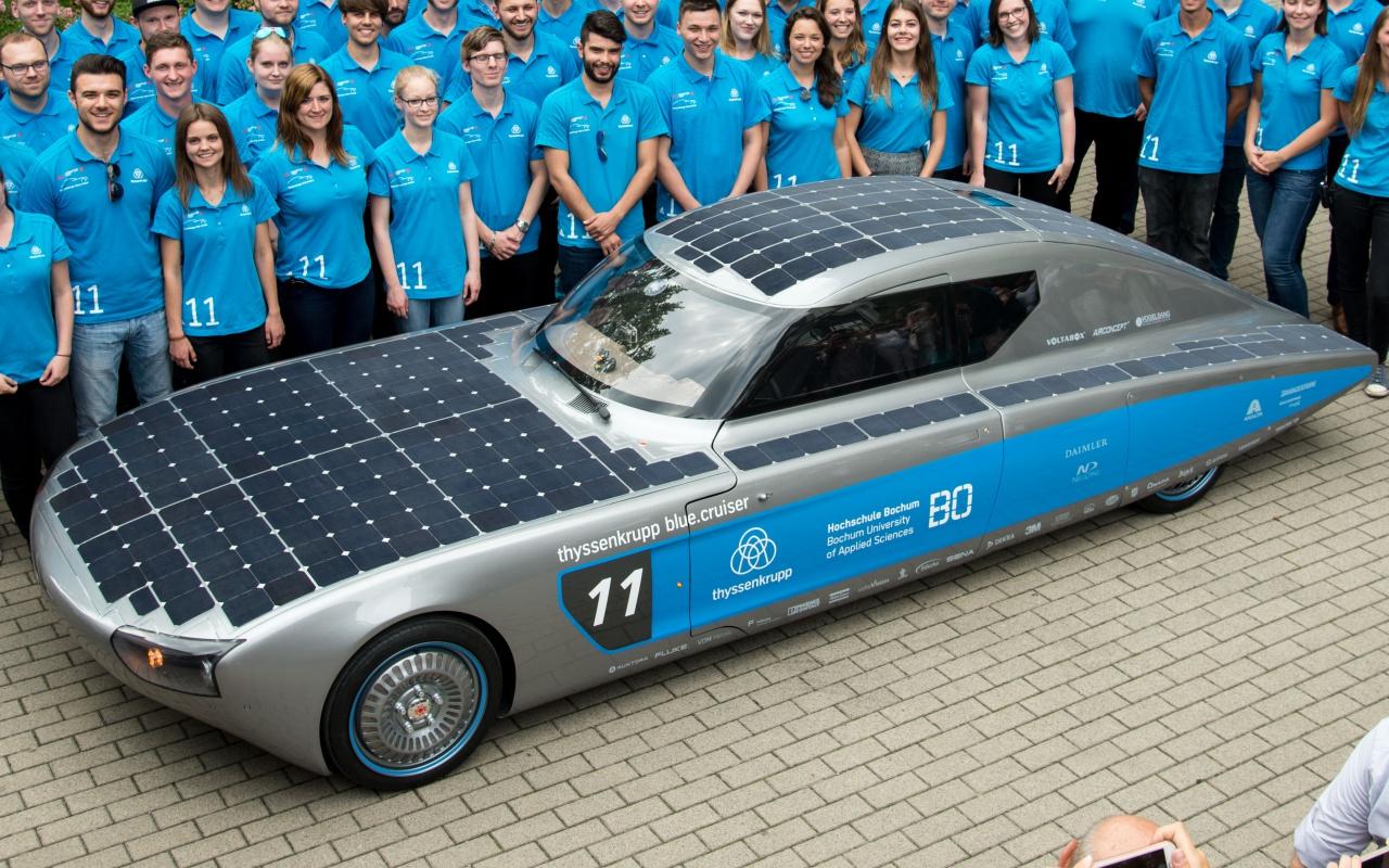 elektroauto bluecruiser neues solarauto der hochschule