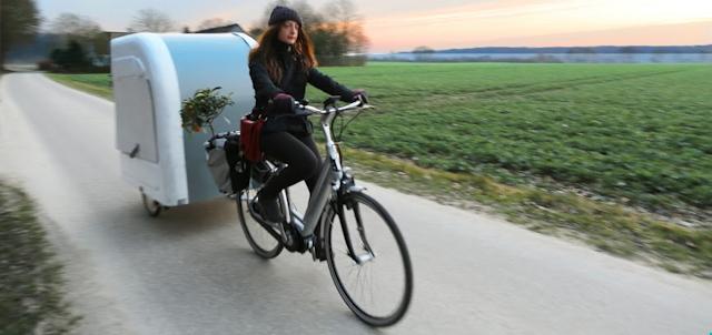 Wide Path Camper: Wohnwagen Anhänger für das Fahrrad.