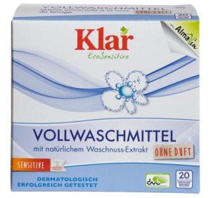 Klar Vollwaschmittel mit natürlichem Waschnuss-Extrakt