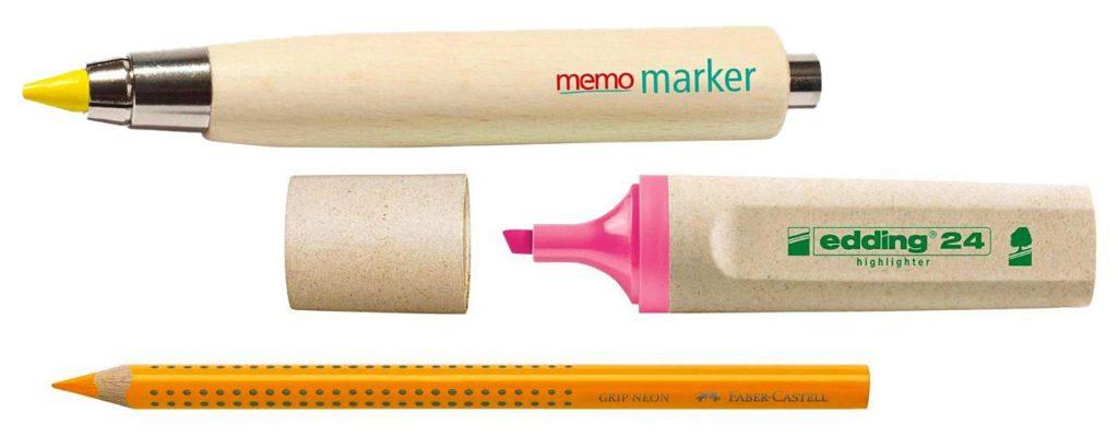 Memo Marker, Edding Ecoline Highlighter, Faber-Castell Trockentextmarker