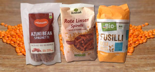 Pasta aus Hülsenfrüchten: Linsen und Kichererbsen, schwarze Bohnen
