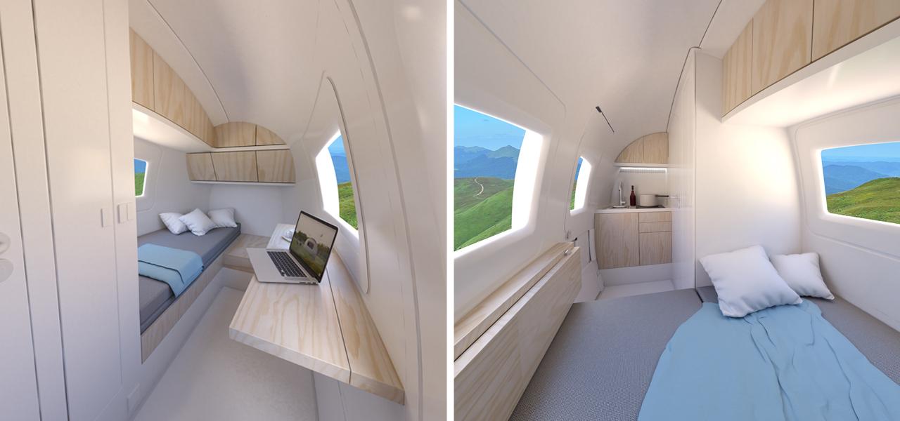 mobiles Tiny House: Ecocapsule von innen