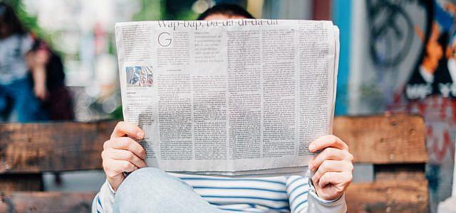 Journalismus Zeitung Lesen News