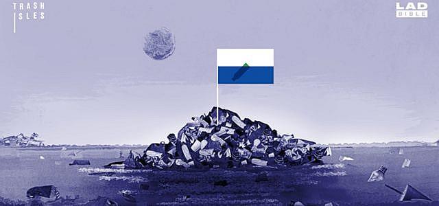 trash isles Müll Meer Staat